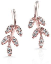 Anne Sisteron - 14kt Rose Gold Diamond Ivy Stud Earrings - Lyst