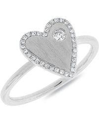 Anne Sisteron - 14kt White Gold Diamond Amorette Ring - Lyst