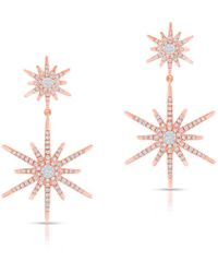 Anne Sisteron - 14kt Rose Gold Diamond Bright Star Astraea Earrings - Lyst