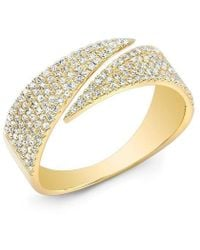 Anne Sisteron - 14kt Yellow Gold Diamond Full Spike Wrap Ring - Lyst