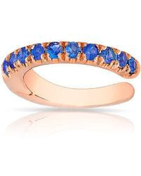 Anne Sisteron 14kt Rose Gold Sapphire Lola Hinge Ear Cuff - Multicolor