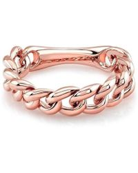 Anne Sisteron - 14kt Rose Gold Thin Chain Link Ring - Lyst
