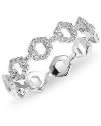 Anne Sisteron - 14kt White Gold Diamond Lock Ring - Lyst