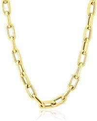 "Anne Sisteron - 14kt Yellow Gold 18"" Chain Link Luxe Lillian Necklace - Lyst"