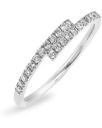 Anne Sisteron - 14kt White Gold Diamond Ridge Ring - Lyst