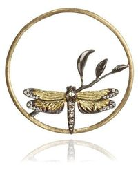 Annoushka - 18ct Gold Diamond Dragonfly Hoopla - Lyst