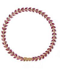 Annoushka 18ct Gold Ruby Vine Bracelet - Multicolour