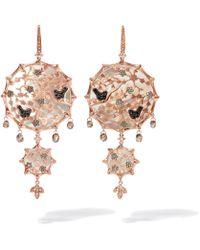 Annoushka - Dream Catcher 18ct Rose Gold Pearl Large Earrings - Lyst