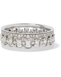 Annoushka Crown Interlaced Diamond Ring Stack In 18ct White Gold