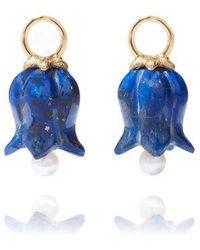 Annoushka 18ct Gold Lapis Lazuli Tulip Earring Drops - Blue