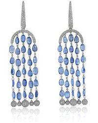 Annoushka Sutra Sapphire Chandelier Earrings - Blue