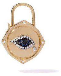Annoushka Lovelock 18ct Gold Sapphire Diamond Evil Eye Charm - Metallic
