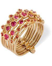Annoushka Hidden Reef 18ct Gold Sapphire Ring - Metallic