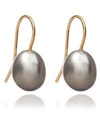 Annoushka Classic Baroque Pearl Drop Earrings - Metallic