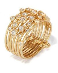 Annoushka Hidden Reef 18ct Gold Diamond Ring - Metallic
