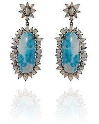 Sutra Annoushka Paraiba Tourmaline Earrings - Blue