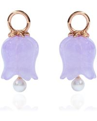 Annoushka - 18ct Rose Gold Lavender Jade Tulip Earring Drops - Lyst