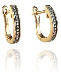 Annoushka Eclipse 18ct Gold Porcupine Diamond Hoop Earrings - Metallic