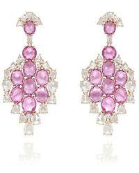Sutra Annoushka Pink Sapphire Earrings