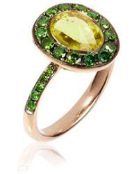 Annoushka - Dusty Diamonds Olive Quartz Ring - Lyst