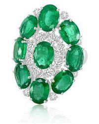 Annoushka Sutra Emerald & Diamond Ring - Green