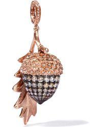 Annoushka - Mythology 18ct Rose Gold Diamond Acorn Seed Pendant - Lyst