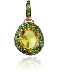 Annoushka - Dusty Diamonds Olive Quartz Pendant - Lyst