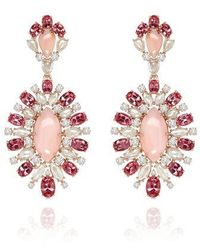Sutra Annoushka Pink Opal Earrings