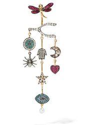 Annoushka - Love Diamonds 18ct Yellow Gold Diamond Chandelier Right Earring - Lyst
