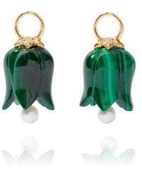 Annoushka - 18ct Gold Malachite Pearl Tulip Earring Drops - Lyst