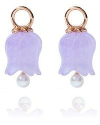 Annoushka - 18ct Rose Gold And Lavender Jade Tulip Earring Drops - Lyst