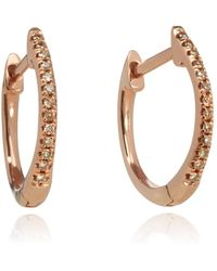 Annoushka - 18ct Rose Gold And Brown Diamond Eclipse Fine Hoop Earrings - Lyst