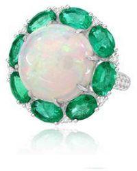 Annoushka Sutra Opal & Emerald Ring - Green