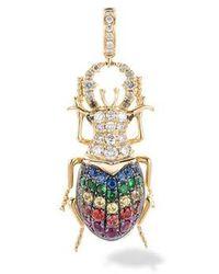 Annoushka Mythology 18ct Gold Rainbow Beetle Charm - Metallic