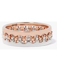 Annoushka Crown Interlaced Ring Stack In 18ct Mixed Golds - Multicolor