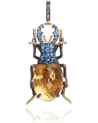 Annoushka - Mythology 18ct Gold Citrine Beetle Charm - Lyst
