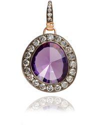 Annoushka - Dusty Diamonds 18ct Rose Gold Amethyst Pendant - Lyst