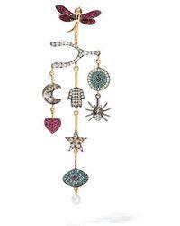 Annoushka - Love Diamonds 18ct Yellow Gold Diamond Chandelier Left Earring - Lyst