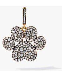 Annoushka 18ct Gold Diamond Paw Print Charm - Metallic