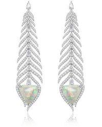 Sutra Annoushka Opal Earrings - White