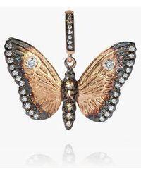 Annoushka Mythology 18ct Rose Gold Diamond Butterfly Pendant - Metallic