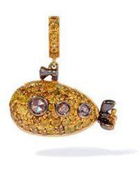 Annoushka 18ct Gold Diamond Submarine Charm - Metallic
