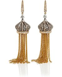 Annoushka | Touch Wood Tassel Earrings, Gold, One Size | Lyst