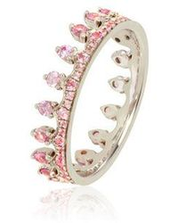 Annoushka Crown 18ct White Gold Pink Sapphire Ring - Multicolour