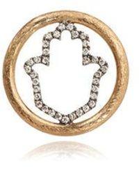 Annoushka 18ct Gold Diamond Hand Of Fatima Hoopla - Metallic