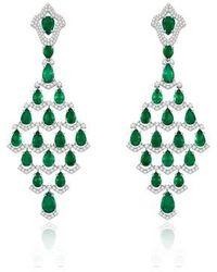 Annoushka Sutra Emerald Earrings - Green