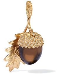 Annoushka Mythology 18ct Gold Smoky Quartz Acorn Seed Pendant - Metallic