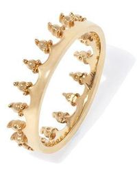Annoushka Crown 18ct Gold Ring - Metallic