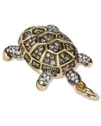 Annoushka Mythology 18ct Gold Diamond Baby Turtle Pendant - Metallic