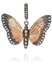 Annoushka Mythology 18ct Rose Gold Diamond Butterfly Pendant - Metallic